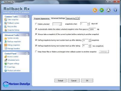 RollBack Rx Software - Professional 8.1 screenshot