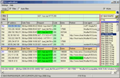 RQ Apache LogViewer 1.11 screenshot