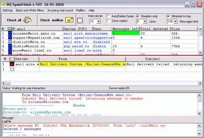RQ SpamFinish 1.05 screenshot