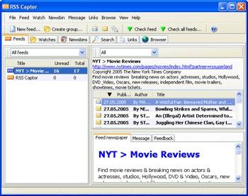 RSS Captor 3.05 screenshot