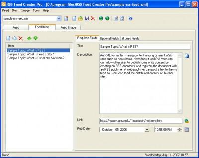 RSS Feed Creator PRO 5.51 screenshot
