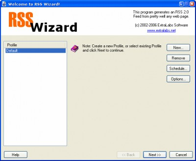 RSS Wizard 4.0 screenshot