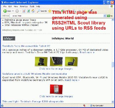 RSS2HTML Scout 1.40 screenshot