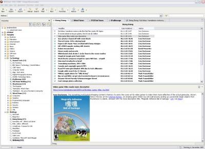 RSSOwl | RSS / RDF / Atom Newsreader 1.2.1 screenshot