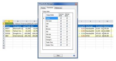 RTQuotesXL Pro 7.0.4 screenshot