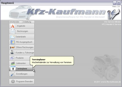 Ru Kfzkaufmann 3 5 Kostenlose Download Funktionelle Software Kfz Werkstatt U Handel Preiswert Und Einfach Bedienbar
