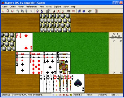 Rummy 500 by MeggieSoft Games 2008 screenshot