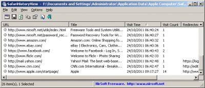 SafariHistoryView 1.01 screenshot