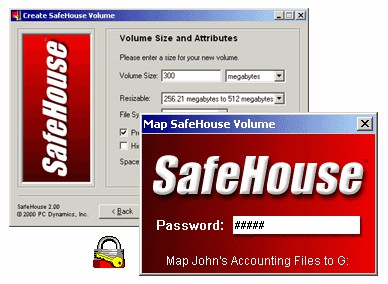 SafeHouse Hard Drive Encryption 2.10 screenshot