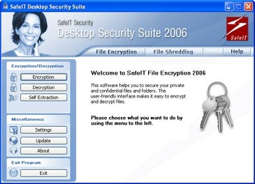SafeIT Desktop Security Suite 2006 screenshot