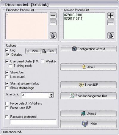 SafeLink 1.8 screenshot