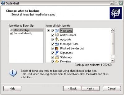 SafeMail 1.05 screenshot