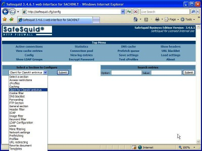 SafeSquid Personal 3.4.6.5 screenshot