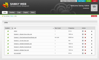 Samay .NET Scheduler Enterprise 2.1 screenshot