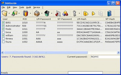 SAMInside 2.6.6.0 screenshot