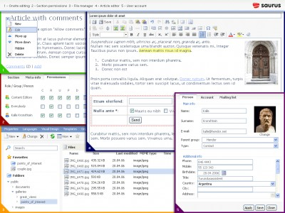 Saurus CMS Free 4.4.7 screenshot