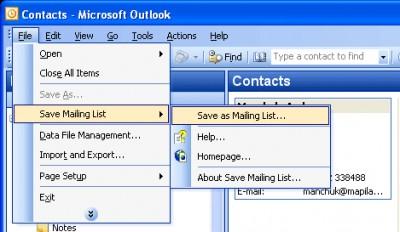 Save Mailing List 1.2 screenshot