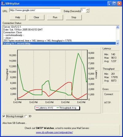 SBHttpStat Statistics 1.3 screenshot