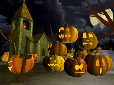 user abuse:gun_dalf Scary-halloween-3d-screensaver