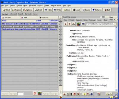 School Library Organizer Pro 3.2b screenshot