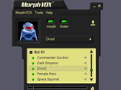 Sci-Fi Voices - MorphVOX Add-on 1.3.1 screenshot
