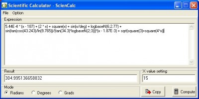 ScienCalc 1.3.22 screenshot