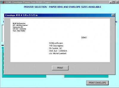 SCML ENVELOPE PRINTER 1.0 screenshot