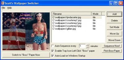 Scotts Wallpaper Switcher 1.7 screenshot