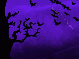 Screechy Bats Halloween Wallpaper 2.0 screenshot