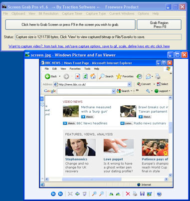 Screen Grab Pro 1.8 screenshot