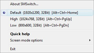 Screen Mode Switch 2.1.1.1 screenshot