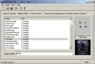 Screen Saver Builder 3.32 screenshot