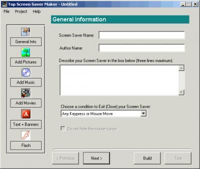 Screen Saver Maker 1.1 screenshot