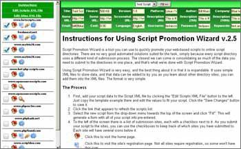 Script Promotion Wizard 2.5 screenshot