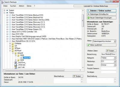 Search Backups 2.1.1 screenshot