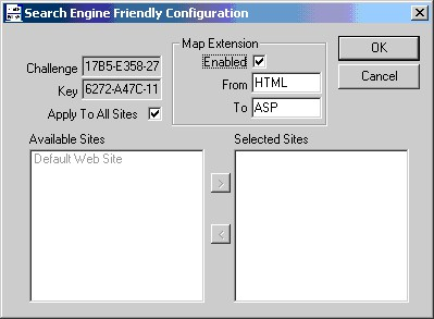 Search Engine Friendly ISAPI Filter 2.1 screenshot