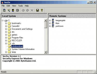 SecEx Secure Shell Client 1.6 screenshot