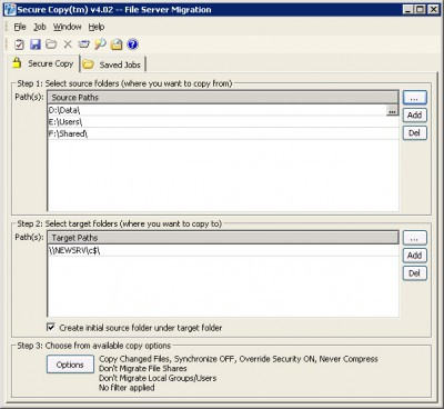 Secure Copy 4.07 screenshot