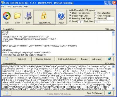 Secure HTML Lock 1.3.2 screenshot