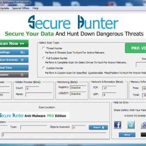 Secure Hunter Anti-Malware Pro 1.0.320 screenshot