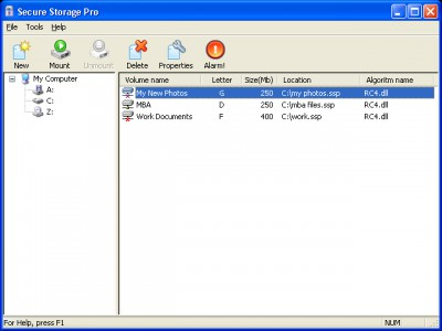 Secure Storage Pro 1.4 screenshot