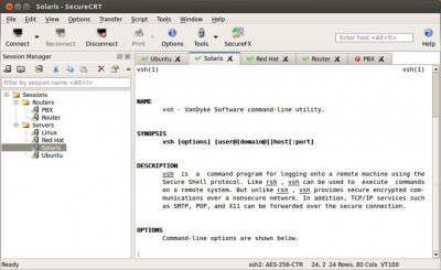 SecureCRT for Linux 8.1.4 screenshot