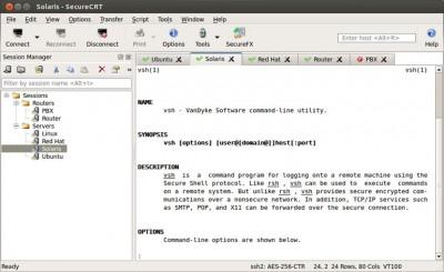 SecureCRT for Linux 8.7.2 screenshot