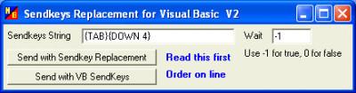 Sendkeys Replacement for Visual Basic 3.00.38 screenshot