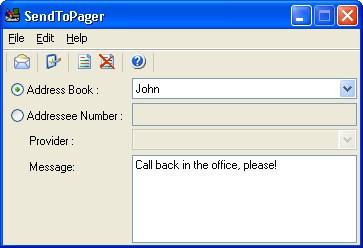 SendToPager Personal 1.3 screenshot