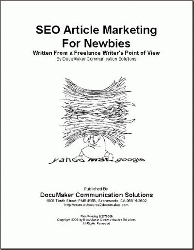 SEO Article Marketing For Newbies 1.0 screenshot