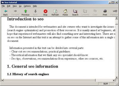 Seo tutorial 1.5 screenshot