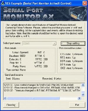 Serail Port Monitor ActiveX 3.0 screenshot