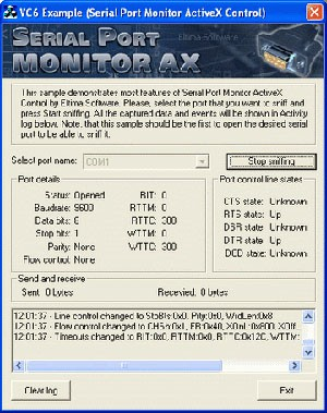 Serial Port Monitor ActiveX 3.0 screenshot