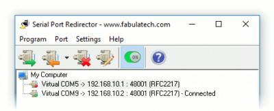 Serial Port Redirector 2.9 screenshot